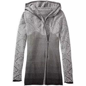 Athleta Ashtee Hoodie Wrap Sweater Gray Ombré